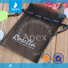 Customized Designed Printed Rope Organza Gift Bag