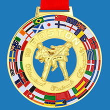 Personalized Tournament Medal With Embossed Soft Enamel Logo