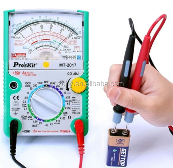 Proskit MT-2017 Taiwan Professional AC/DC LCD Protective Function Analog Multimeter Ohm Tester