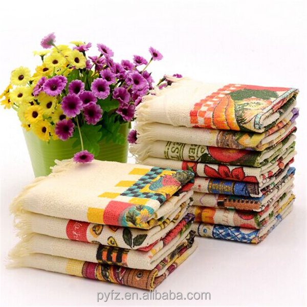 stock lot printed turkish cotton tassel tea towel fabric