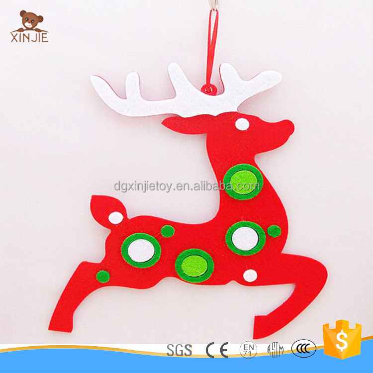 cute reindeer decoration christmas tree ornament hanging toy
