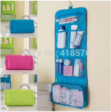 women travel toiletry bag / foldable toiletry bag/handing toiletry bag