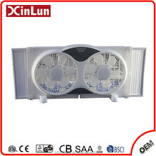 2017 Factory Price 9 Inches Plastic Electric Twin Window Fan