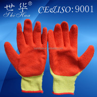 Good quality durable cotton lined latex gloves
