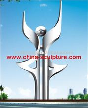 2016 New Large Outdoor Stainless Steel Sculpture Art Decoration Statues For Garden/Campus
