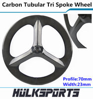 700c carbon tri spoke wheelset road bicycle or fix gear cycling with 3 spokes carbon three spoke bike wheels