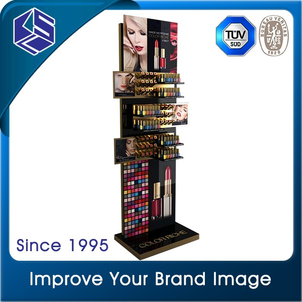 Customized design retail store makeup cosmetic lipstick display stand