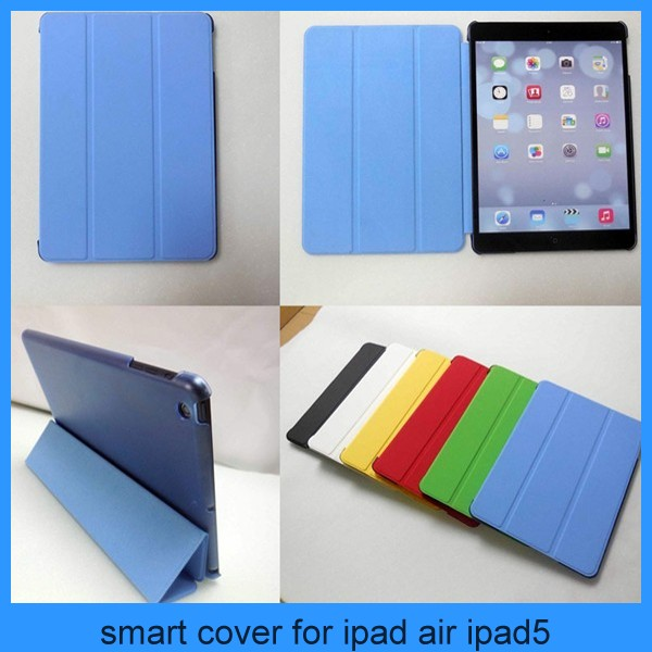 Magnetic Smart Cover Case W/Stand + Ultra Slim Back Cover For iPad air ipad 5