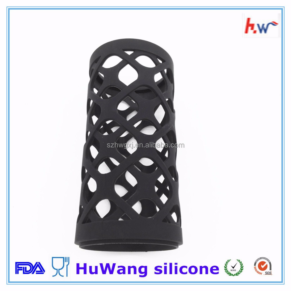 Customized protect silicone sleeve for glass jar