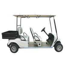 4 x 2 wheel drive electric cargo vehicle with cargo bed