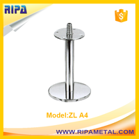 Zinc alloy metal sofa and furniture leg with round shape