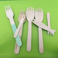 High Quality Utensils Disposable Birch Wooden Fork