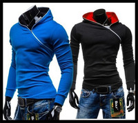 wholesale zipper design men jersey long sleeve sweatshirt hoodie