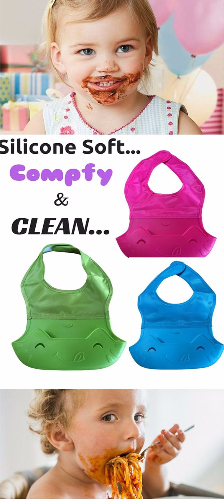 Waterproof silicone baby bib,baby silicone bibs wholesale