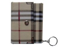 Leather cover with key chain mini gift photo album adhesive page