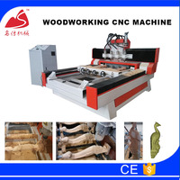 Jinan MS-1325 4 axis wood cnc carving machine 3d wood router for furniture legs