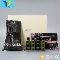 Wholesale restaurant hotel supplies cheap disposable items set 5 star luxury hotel bathroom room amenities list