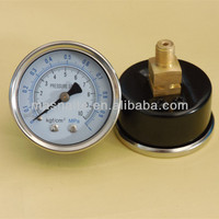 40mm steel case screw type pressure gauge