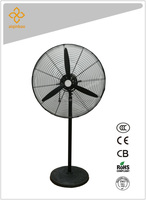 "Big power 24"" three aluminum blade full copper motor oscillating industrial standing fan CCC,CE,CB,RoHS certificate"