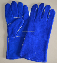 "BC grade 14"" welding safety gloves and one pc leather of back"