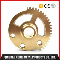 Small brass worm gears CNC machining parts with China manufacturer