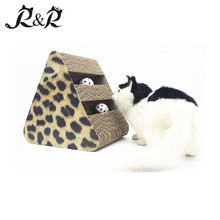 Best Selling Pet Gifts Funny Cat Toys Corrugated Scratcher Ball Furniture Cat Beds CS-2009