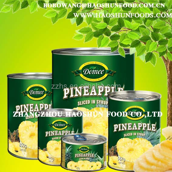 Canned pinapple/ Canned pineapple in syrup, slice/broken/chunk/pieces/tidbits