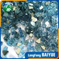 Cobalt blue colored reflective temper fireplace pit glass chips