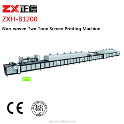 Automatic New Condition Two Color Non-woven Screen Printing Machine
