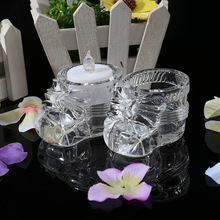 Hot Sale Cheap Noble Crystal Shoes Candle Holder For Wedding Favor