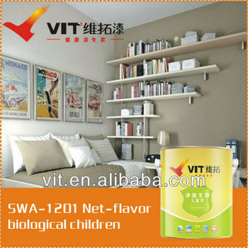 For babies' room odorless organic interior wall paint/coating