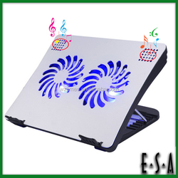 2015 Adjustable 2 fans laptop cooling,Multifunctional cooling pad with speakers,tablet pc cooling pad G22A131