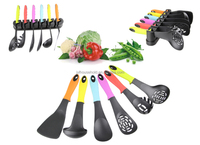 6pcs nylon kitchenware set with pp slot, newest design , high quality