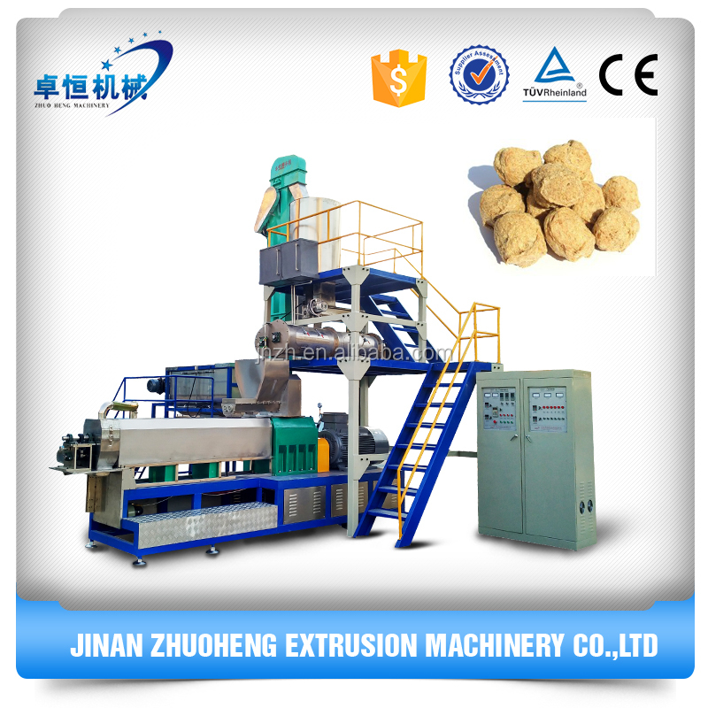 Soybean meat production line/textured vegetable soya protein extruder machine manufacturers