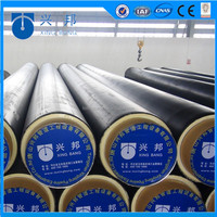 API5L carbon steel pipe covered with polyurethane foam insulation material and HDPE sleeve for underground water supply