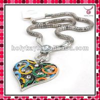 new arrival fashionable heart necklace, Olympic symbol jewelry, fashion necklace