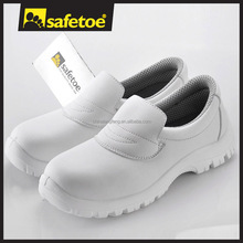 Water proof white safety shoes, kitchen safety shoes for food industry