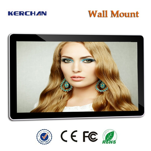 High resolution 42inch wall mount digital signage bus advertising player