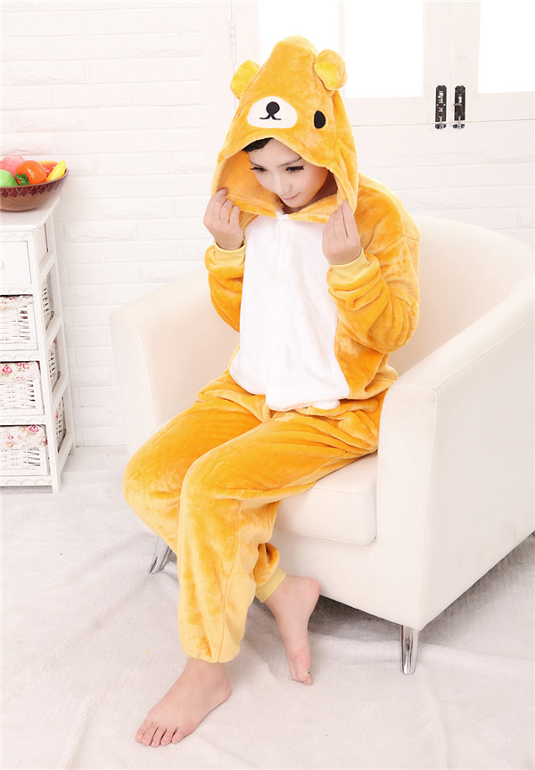 Polyester Overall Sleep Adult Footed Pajamas Couple Onesie