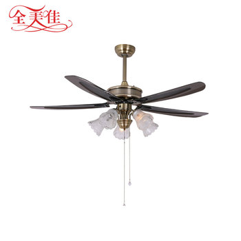 New 56 inch outdoor big decorative 5 bulb light 5 blades ceiling fan with remote control