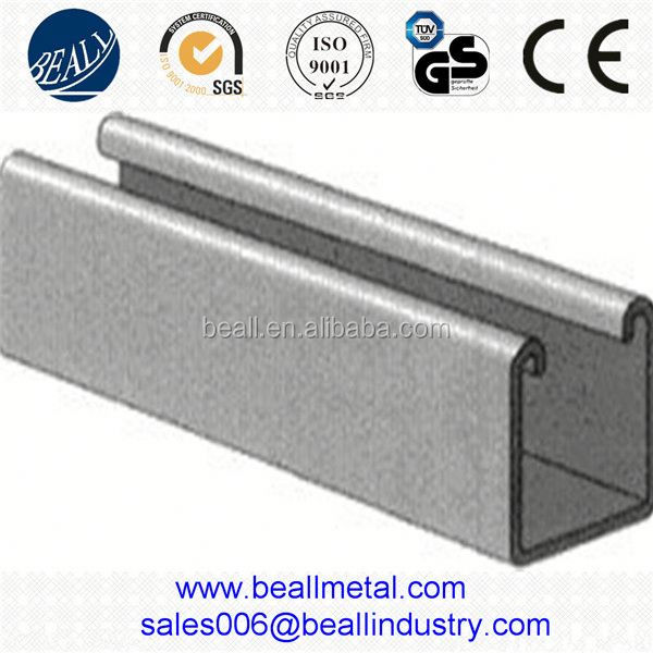 316 stainless steel U C T channel for glass clamping