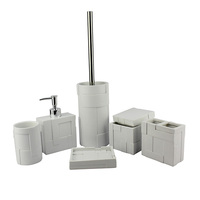 Exotic distinctive design wholesale good quality polyresin bathroom accessory sets