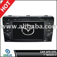 7 inch car dvd player speical for MAZDA 3 with high resolution digital touch screen ,gps ,bluetooth,TV,radio,ipod
