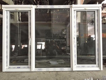 UPVC white casement window and UPVC fixed window with imported roller mosquito net