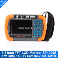 Tester CCTV 3.5 Inch Touch Screen Security For CCTV Camera Video Tester 12V Output Power Out