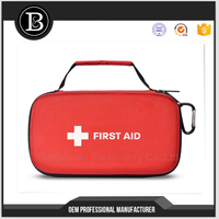 Red and Black Box First Aid Kits Survival Storage Box Travel Vehicle Emergency Medical Bag Kit Camping