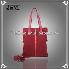 Red corduroy ladies hand bag new products for 2014