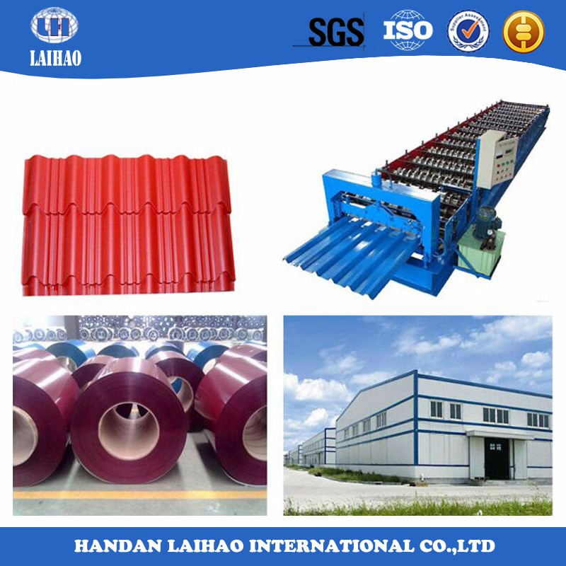 Alibaba express roofing sheet/color coated corrugated galvanized steel sheet
