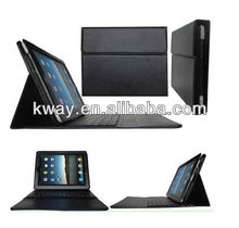 For iPad 2 New 3rd 4 Gen Black Stand Leather Case Cover With Bluetooth Keyboard wireless keyboard