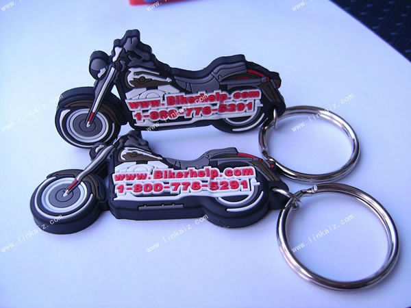 3D motorcycle rubber pvc keychain